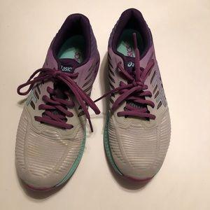 Asics Fuze X Purple & Aqua Women's Sneakers Sz 7.5